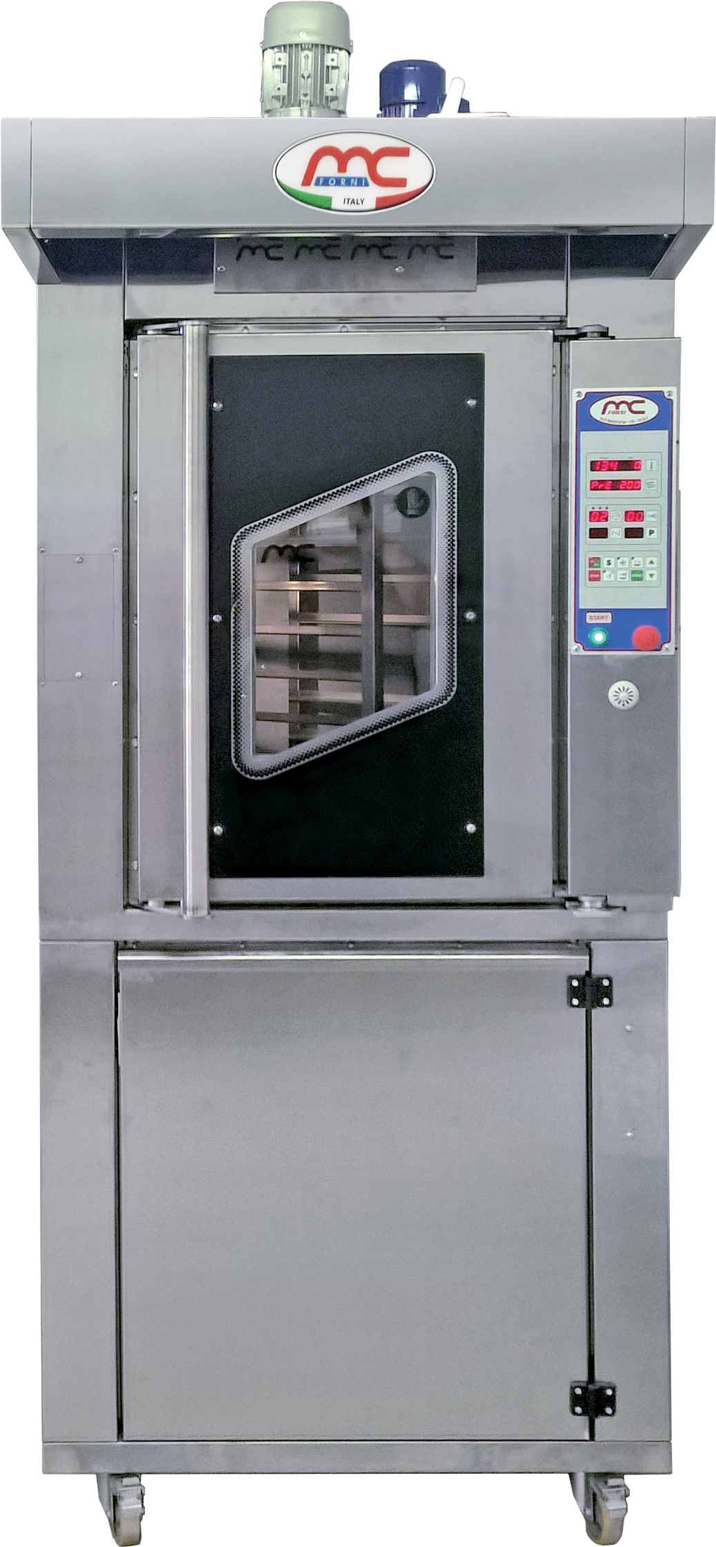 Rotary ovens for bakeries, patisseries and delicatessens